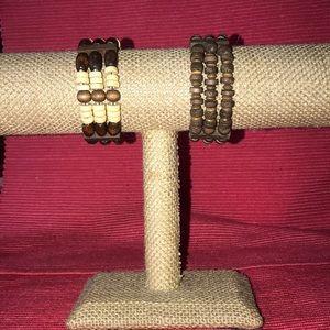 Jewelry - Set of Two Wooden Bracelets